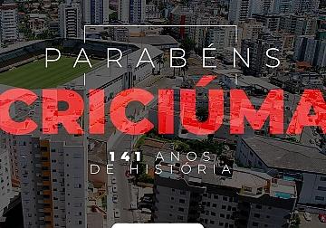 141 anos de Criciúma!